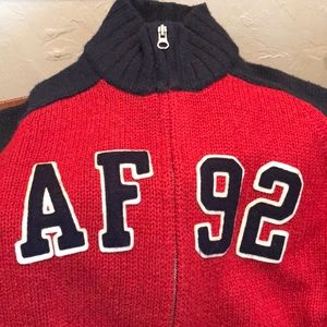 Abercrombie & Fitch full zip wool sweater